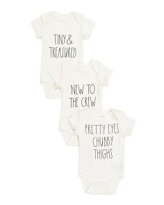 Baby 3pk Short Sleeve Novelty Bodysuits