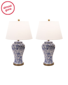 Set Of 2 Blossom Table Lamps