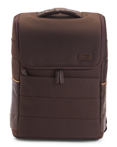 Laptop Backpack With Leather Trim