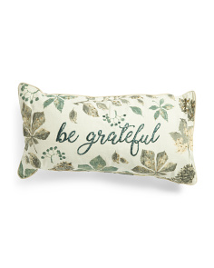 14x28 Be Grateful Pillow