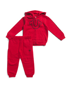Toddler Boys Zip Up Hoodie And Jogger Set
