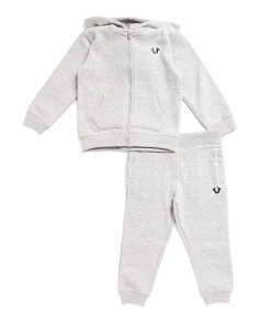 Toddler Boys Zip Up Hoodie And Joggers Set