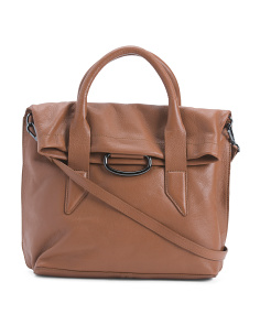 Montreal Medium Foldover Leather Satchel