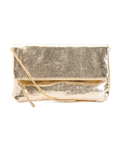 Alicia Metallic Leather Crossbody