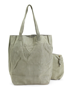 Stella Perforated Leather Tote