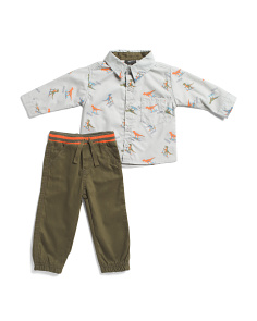 Infant Boys 2pc Dinosaur Pant Set