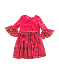 Toddler Girls Lace Floral Dress