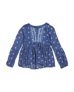 Little Girls Peasant Blouse