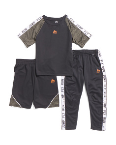 Little Boys 3pc Tee Short And Jogger Set
