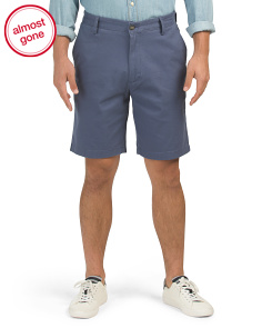 Flat Front  Stretch Twill Walking Shorts