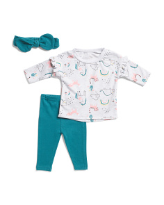 Newborn Girls Animal Friends Pant Set