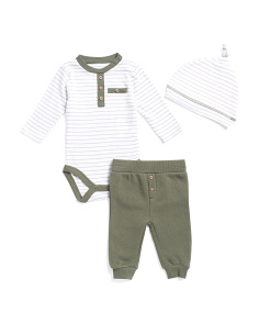 Baby Boys Striped Bodysuit And Jogger Set