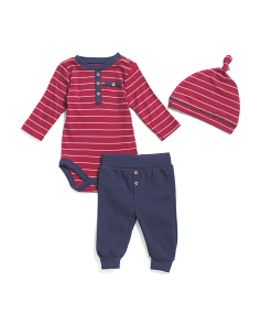 Baby Boys Ribbed Bodysuit And Jogger Set