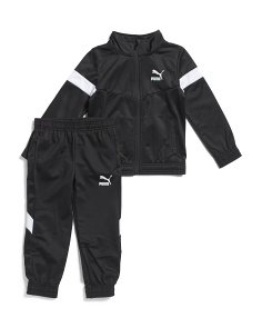 Little Boys Color Blocked Track Suit