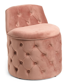 Schala Button Tufted Storage Stool
