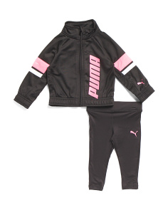 Infant Girls 2pc Tricot Jacket & Leggings Set