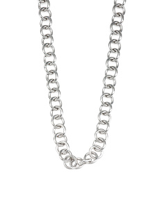 Made In Italy Sterling Silver Toggle Long Link Necklace