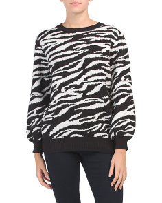 Juniors Australian Designed Zebra Printed Sweater