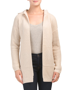 Juniors Open Cardigan With Hood