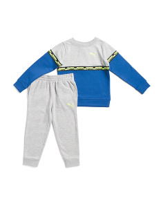 Little Boys 2pc Jogger Set With Fleece Pullover Top