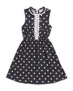 Big Girls Polka Dot Dress
