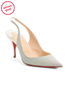 Made In Italy Slingback Pointy Toe Pumps