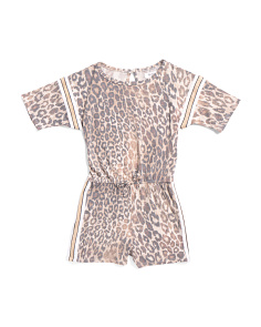 Big Girls Animal Print Romper
