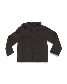 Little Boys Softshell Jacket With Hood