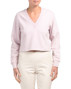 V-neck Cropped Sweatshirt