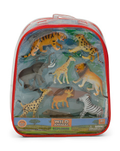 Wild Animal Explorer Backpack Play Set
