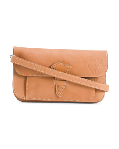 Made In Italy Leather Wallet Crossbody