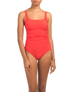 Moto Tummy Control One-piece Swimsuit