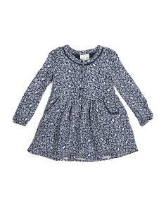 Toddler Girls Floral Butterfly Button Front Dress