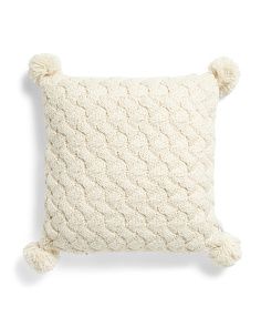 20x20 Knitted Basket Knit Pillow