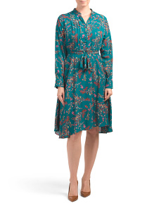 Printed Crepe Chiffon Shirt Dress