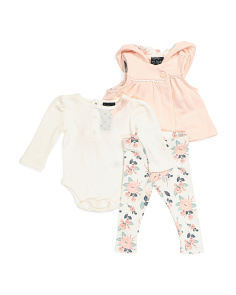 Infant Girls Vest & Bodysuit Set