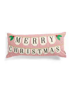 14x30 Merry Christmas Banner Pillow