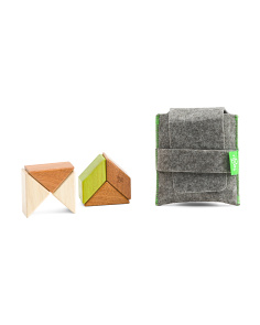 6pc Pocket Pouch Prism Wooden Block Set