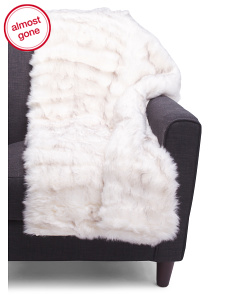 Profiterole Tipped Luxe Faux Fur Throw