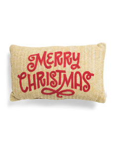 14x24 Outdoor Merry Christmas Pillow