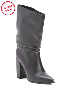 Slouchy High Shaft Leather Boots