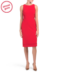 Made In Italy Sleeveless Sheath Dress