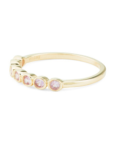 Made In India 14k Gold Pink Sapphire Stacking Band Ring