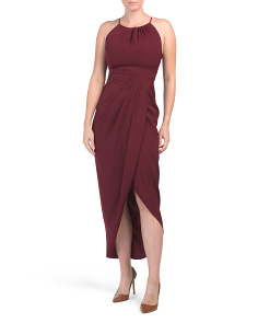 Australian Designed High Neck Ruched Dress