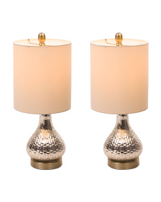 Set Of Two Antique Glass Lamps