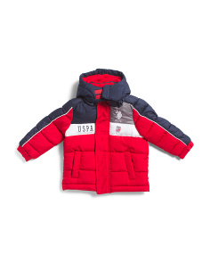 Toddler Boys Color Block Puffer Coat