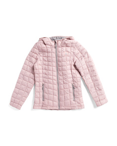 Big Girls Nylon Packable Glacier Shield Jacket With Hood