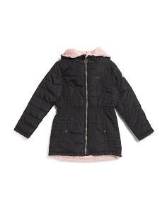 Big Girls Reversible Faux Fur Lined Jacket