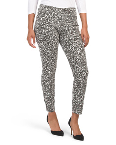 Leopard Print Ankle Skinny Jeans