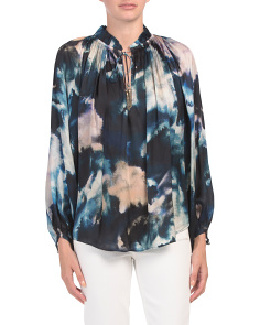 Marrakesh Tie Dye Peasant Top